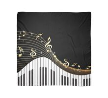 Ivory Keys Piano Music Scarf