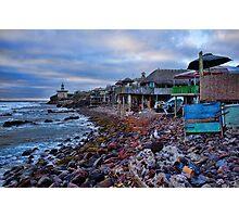 View of Baja Fox Studios from Popotla, Baja Photographic Print