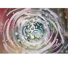 Abstract Flower Mandala Photographic Print