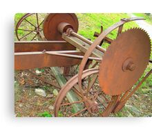 Old Portable Saw Mill Canvas Print