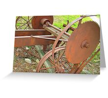 Old Portable Saw Mill Greeting Card