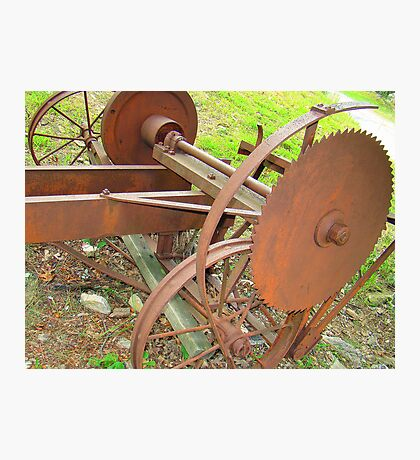 Old Portable Saw Mill Photographic Print
