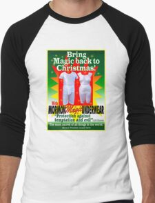 Mormon Underwear...Christmas Magic! Men's Baseball ¾ T-Shirt