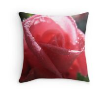 Mademoiselle Precious Rose Throw Pillow