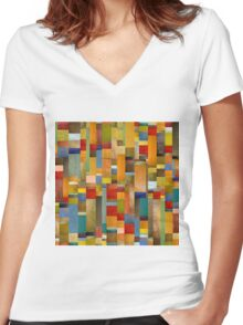 Pieces Parts Women's Fitted V-Neck T-Shirt