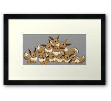 pokemon eevee cute chibi anime shirt Framed Print