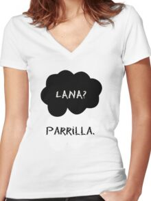 Lana? Parrilla. Women's Fitted V-Neck T-Shirt