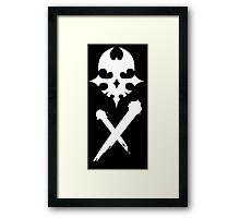 TWEWY Skull Framed Print