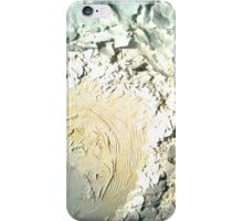 glossy scrappy white painting iPhone Case/Skin