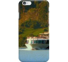 Cruise ship on the river Danube | waterscape photography iPhone Case/Skin
