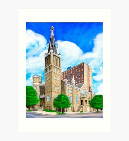 Big Bethel AME Church - Sweet Auburn - Atlanta Art Print