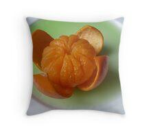 Mandarine Bloom Throw Pillow