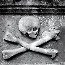 tomb, grave, scull and crossbones  by George Salazar