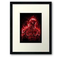 World on Fire Framed Print