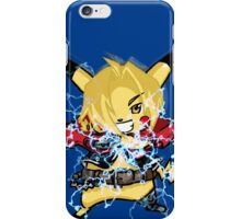 pokemon pikachu edward elric chibi anime shirt iPhone Case/Skin