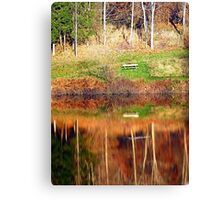 Water reflections on the river | waterscape photography Canvas Print