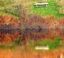 Water reflections on the river | waterscape photography Sticker