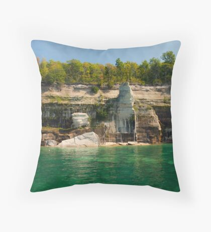 Painted Rocks - Natural Beauty Throw Pillow