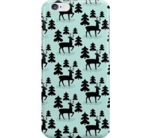 Deer In The Forest Blue Pattern iPhone Case/Skin