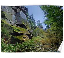 Mountain, granite rocks and pure nature | landscape photography Poster