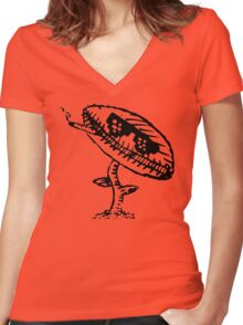 Plant With Attitude  Women's Fitted V-Neck T-Shirt