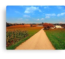 Hiking through a peaceful scenery III | landscape photography Canvas Print