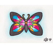 Butterfly Study - Stained Glass Photographic Print