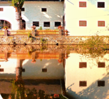 River reflections at the mill | waterscape photography Sticker