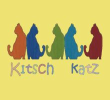 Kitsch Cats Silhouette Cat Collage Pattern Isolated Kids Clothes