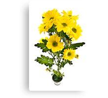 Yellow flowers. Canvas Print