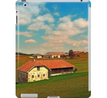 Countryside life with blue cloudy sky   landscape photography iPad Case/Skin