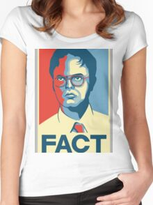 Fact - Dwight Schrute Women's Fitted Scoop T-Shirt