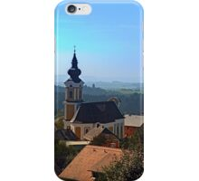 Village church, skyline and panorama | landscape photography iPhone Case/Skin