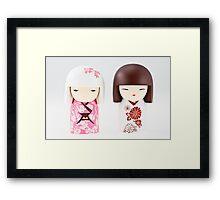 Little Chinese dolls. Framed Print