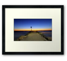 Dreamy Dusk At North Beach  Framed Print
