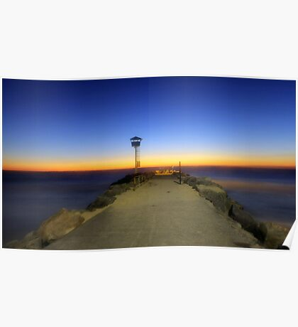 Dreamy Dusk At North Beach  Poster