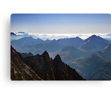 View from Aiguille du Midi Canvas Print