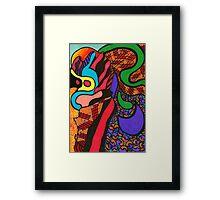 Multi-Coloured Fingers Framed Print