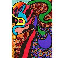 Multi-Coloured Fingers Photographic Print