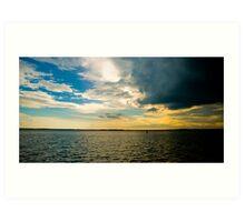 A Storm brews over the sea Art Print