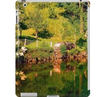 Green life, a river and reflections | waterscape photography iPad Case/Skin