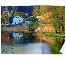 A summer evening along the river II | waterscape photography Poster
