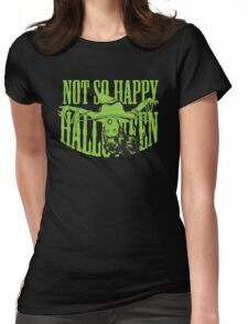 Not so Happy Halloween Womens Fitted T-Shirt