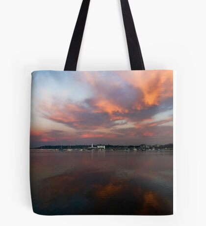 Fiery Bay Tote Bag