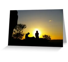 Sunset At Broken Hill Greeting Card