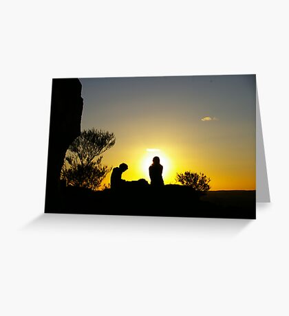 Sunset At Broken Hill Greeting Card