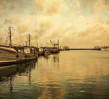Newlyn Trawlers  by Rob Hawkins