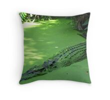 Swamp Monster Throw Pillow