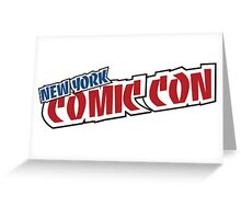 New York Comic Con Greeting Card