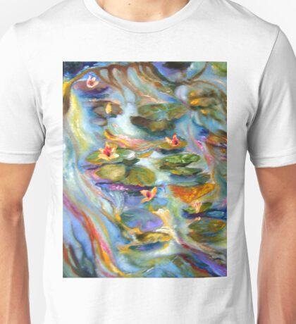 Water Lilies Below the Bridge Unisex T-Shirt